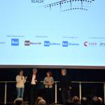 Cecilia Pagliarani, Fabrizio Grosoli, Paola Malanga di Rai Cinema e Gianni Amelio
