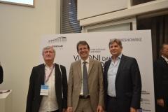 Francesco Bizzarri, Fabrizio Grosoli, con Filippo Del Corno, Assessore alla Cultura di Milano