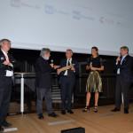 Fabrizio Grosoli, la madrina del Festival Martina Colombari, Francesco Bizzarri e Gianni Amelio
