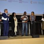 Francesco Bizzarri, Paola Malanga, Cristina Mantis, regista di Redemption Song, l'attore del documentario Cissoko Aboubacar, Martina Colombari e Serena Massimi