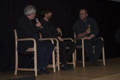 Il regista del film IL CLUB DEI 27 Mateo Zoni con Fabrizio Grosoli e Andrea Maguolo montatore