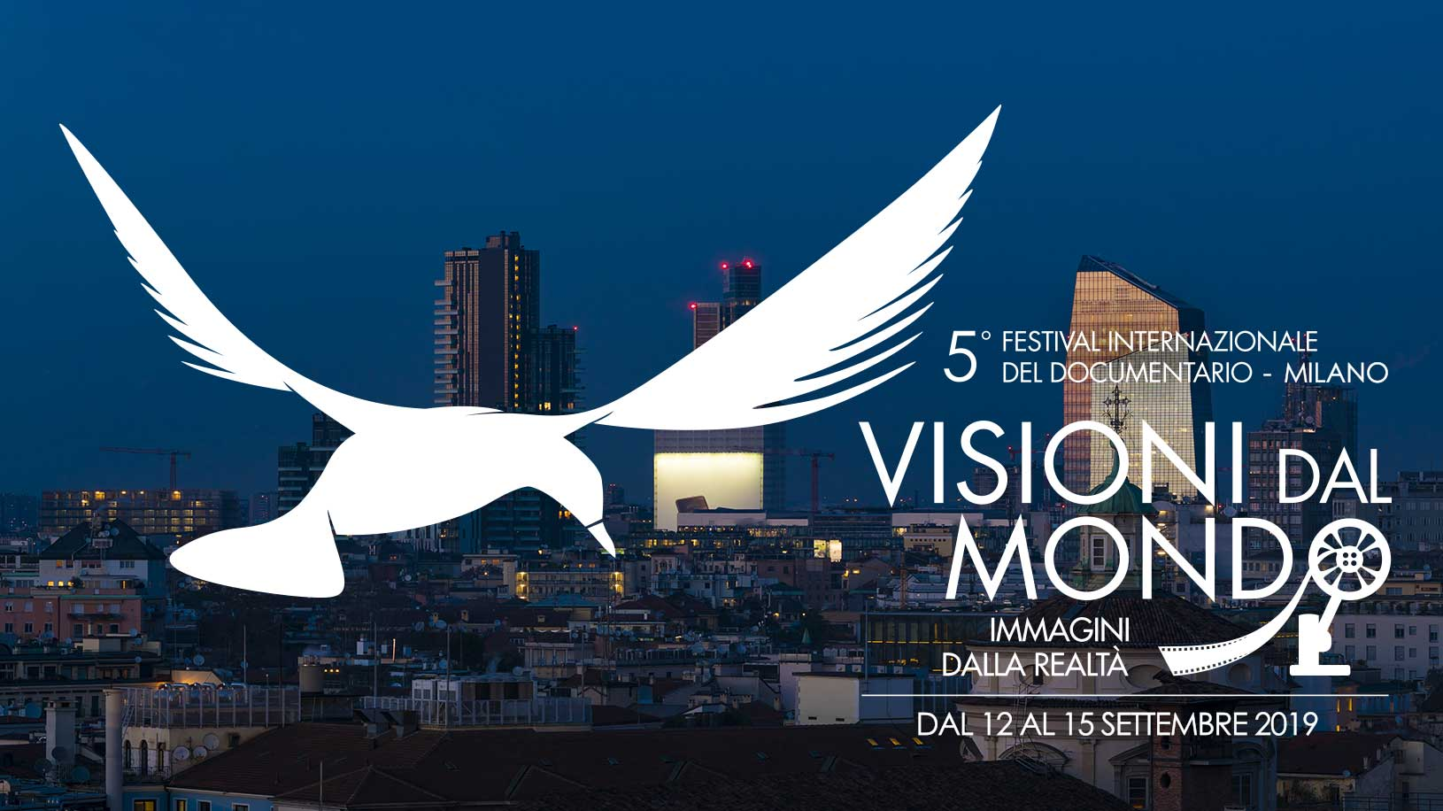 Milan skyline is the absolute protagonist of the image of the 5th edition of the International Documentary Festival  Visioni dal Mondo, Immagini dalla Realtà-Milan, 12 /15 September 2019