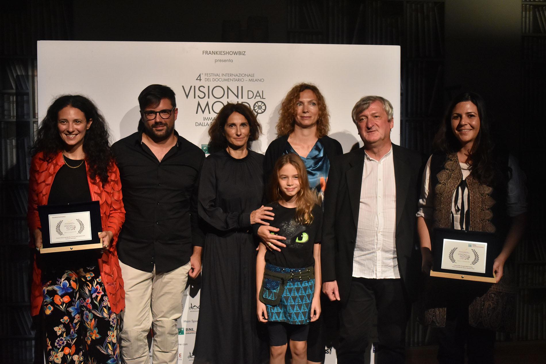 Da sinistra Costanza Quatriglio, Alessandro Focareta, Lorenza Indovina, Claudia Cipriani, Fabrizio Grosoli e Giulia Bertoluzzi