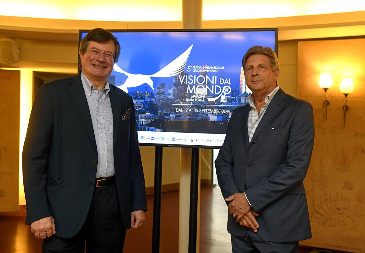 Fiorenzo Galli, Direttore Generale Museo Nazionale Scienza e Tecnologia Leonardo da Vinci e Francesco Bizzarri, Fondatore e Direttore del Festival