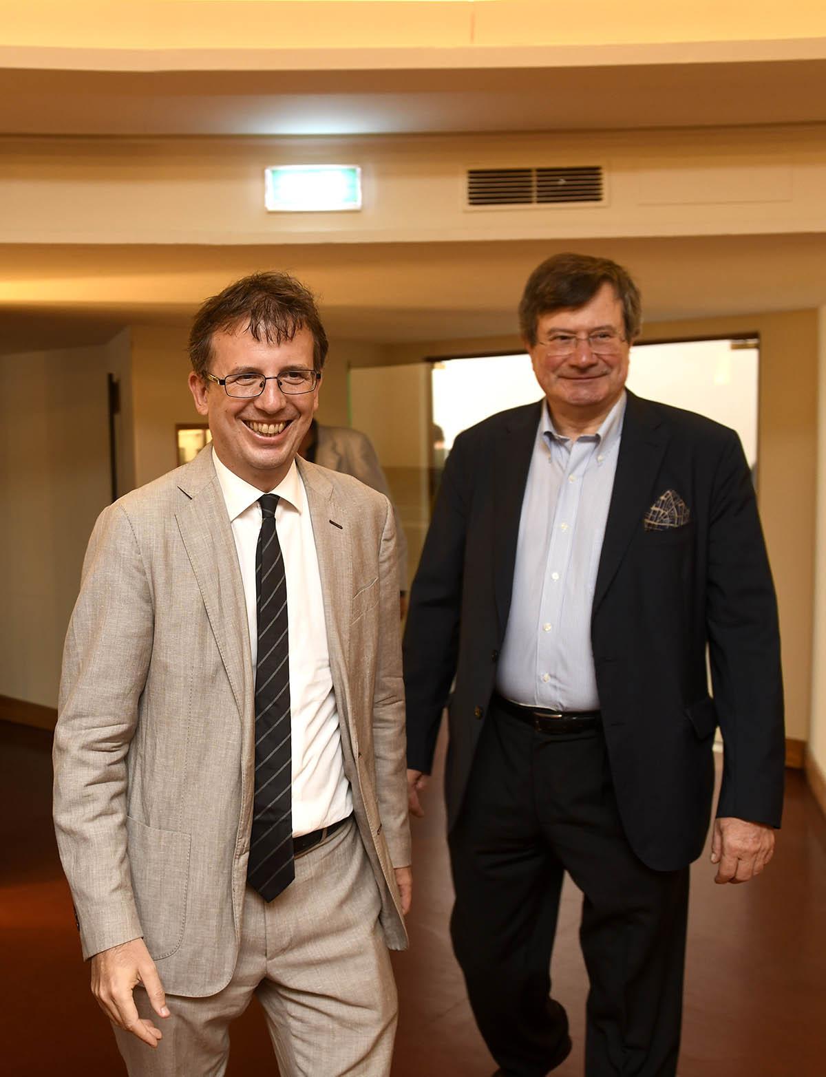 Filippo Del Corno, Assessore alla Cultura Comune di Milano e Fiorenzo Galli, Direttore Generale Museo Nazionale Scienza e Tecnologia Leonardo da Vinci