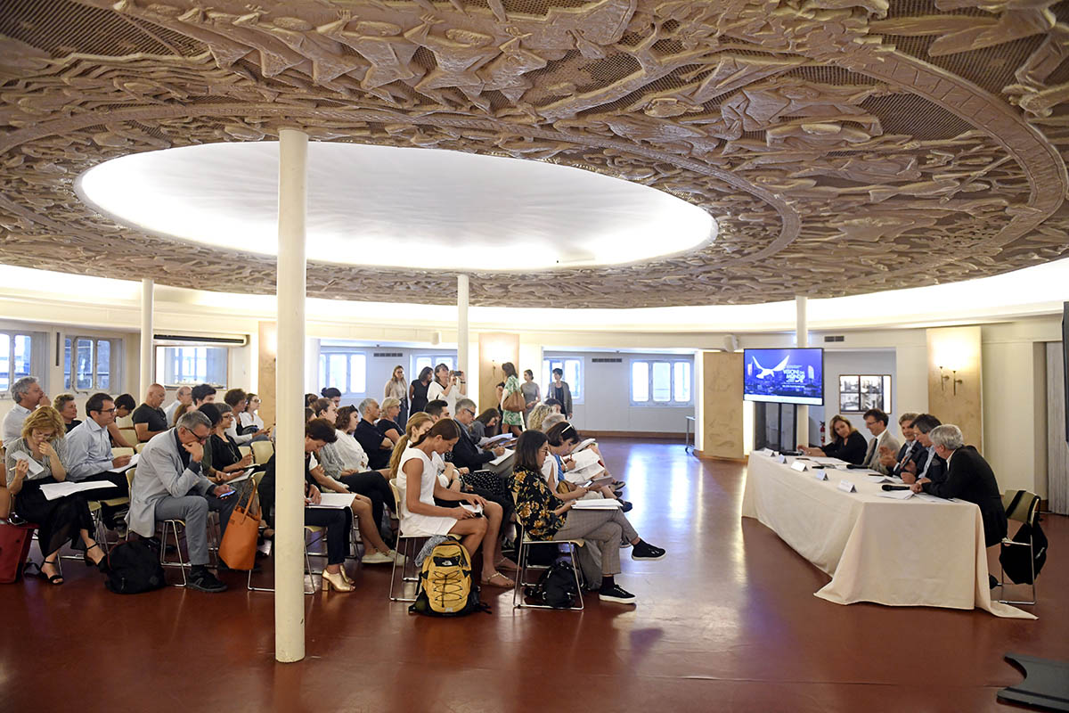 Conferenza stampa di presentazione 5° Festival internazionale del Documentario Visioni dal Mondo, Immagini dalla Realtà, sala Biancamano Museo Nazionale Scienza e Tecnologia Leonardo da Vinci