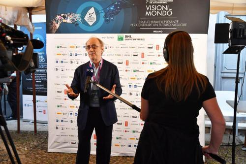 Maurizio Nichetti, Artistic Director of the 7th International Documentary Festival Visioni dal Mondo interviewed by Rai