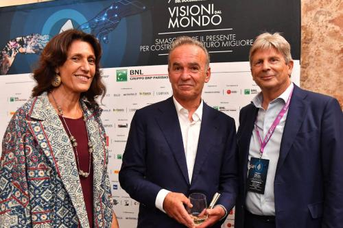 Nick Broomfield, guest of honor of the 7th Festival, with Francesco Bizzarri and Giuliana Paoletti