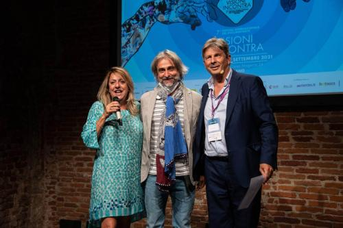"""Massimo Arvat, producer of """"Beyond the last call"""" winner of the jury's special mention with Cinzia Masòtina and Francesco Bizzarri"""