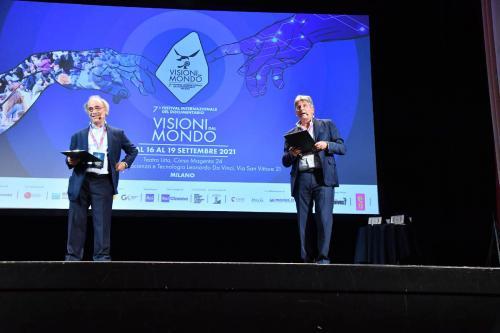 Francesco Bizzarri, Founder and Director of the International Documentary Festival Visioni dal Mondo and Maurizio Nichetti, Artistic Director