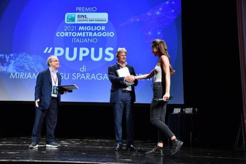 """Miriam Cossu Sparagano Ferraye, director of """"Pupus"""" winner of the BNL Gruppo BNP Paribas 2021 Best Italian Short Film Award"""