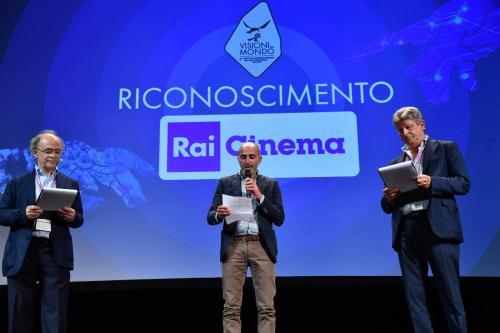 Gabriele Genuino, delivers the Rai Cinema Recognition dedicated to Franco Scaglia