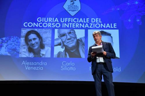 Francesco Bizzarri, Founder and Director of the International Documentary Festival Visioni dal Mondo presents the official jury of the international contest